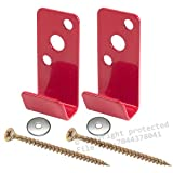 (2 Pack) - Universal Fire Extinguisher Wall Hook, Mount, Bracket, Hanger for 2 1/2 gal. Stainless Steel Water Pressure, Old Brass Extg. etc., etc. - FREE SCREWS & WASHERS INCLUDED