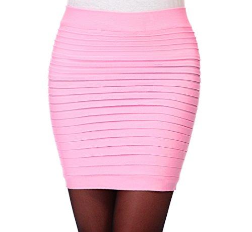 Package plisse Rose Jupe Hanche haute Moulante Encounter taille courte clair Femme aYSxT