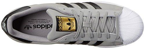 Adidas Originali Mens Superstar Scarpe Da Skate Solido Grigio / Nero / Bianco