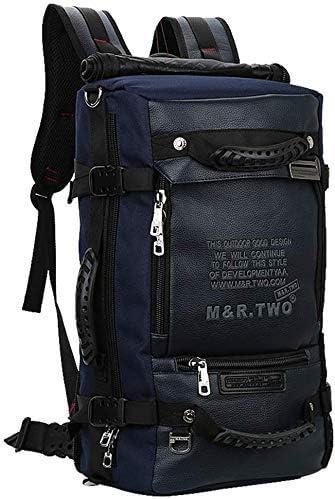 BAJIMI ハイキングバックパック、学生のバックパック、男性女性のための旅行バックパック防水通気性のトレッキングハイキング登山クライミングキャンプリュックサック(色:ブルー、サイズ:18センチメートル×30センチメートル×49センチメートル)