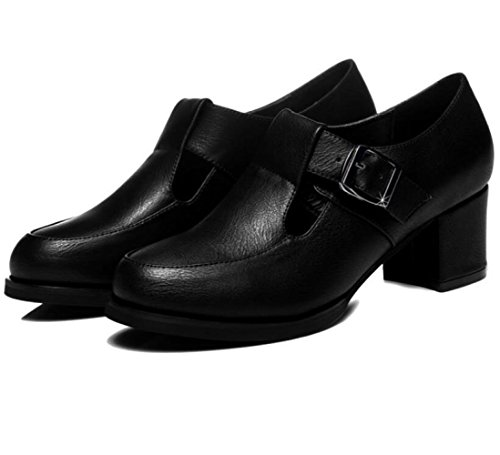 Verano Temporada Coreanos Zapatos Primavera De Agua Mujer Y De Para Prueba Cuero A Zapatos Nueva Moda Black con Zapatos Informal Antideslizantes 8AY8xqP