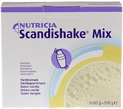 NEW Scandishake Instant Shake Strawberry Mix Weight Gain 12 Ounce
