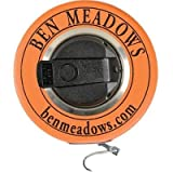 BEN MEADOWS White Enameled Steel Diameter Tape, 10m/320cm, 3/8''W Claw Hook By Tabletop King