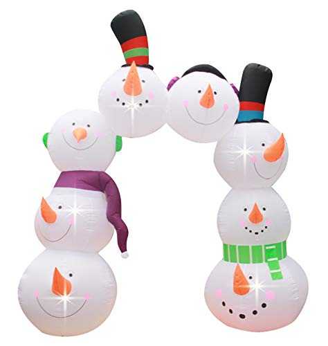 BIGJOYS 10 Ft Inflatable Christmas Snowman Arch Archway Decoration for Indoors Outdoors Yad Home Garden -