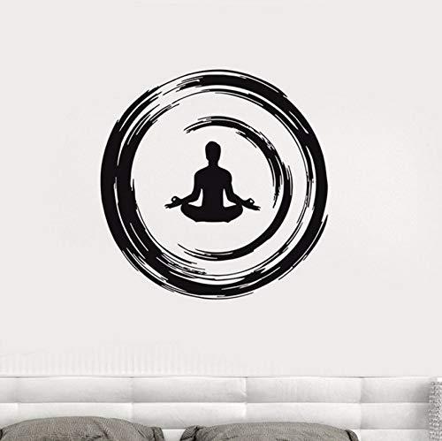 Pbldb 42X42Cm Yoga Buddhist Meditation Wall Decal Enso