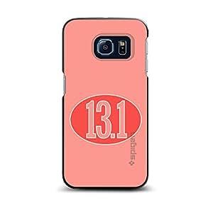 CUSTOM Black Spigen ThinFit Case for Samsung Galaxy S6 EDGE - Red 13.1 Oval Half Marathon Run