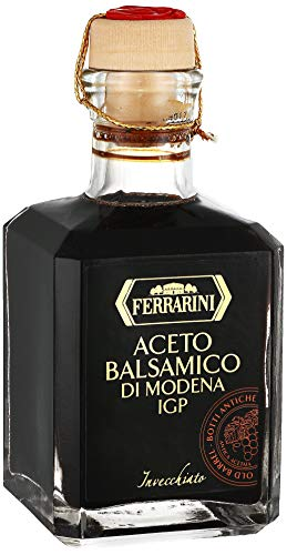 Italian Balsamic Vinegar Modena Aged - Aceto Balsamico di Modena IGP - Gourmet Barrel Aged Balsamic Vinegar - By Ferrarini. Certified Product PGI from Italy (8.4 oz.) ()