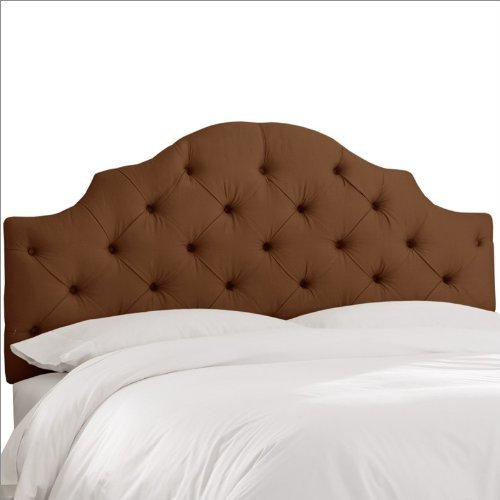 Skyline Furniture Tufted Headboard in Upholstered Shantung Queen Chocolate