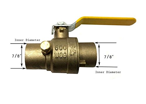 Cxc Valve Ball - Libra Supply 3/4 inch Lead Free All Sweat Brass Ball Valve With Drain, CxC, (Click in for more size options), 3/4-inch, 3/4'' Ball Valve