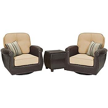La Z Boy Outdoor Breckenridge 3 Piece Resin Wicker Patio Furniture Set  (Natural