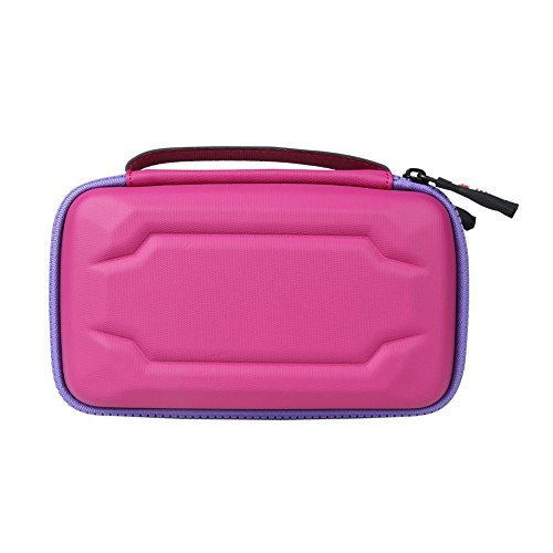 BUBM Eva Electronic Accessories Organizer Case, Travel Gadget Bag with Handle, Perfect for Cables, USB Drives, Batteries, memory cards (Pink)