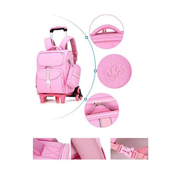 LUONE Bambini Zaino Trolley, Il Nuovo Carrello Schoolbag di Mezza età dei Bambini dello Zaino Estraibile Daypacks ad… 4 spesavip