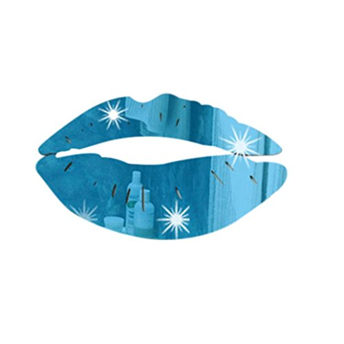 Blue Embossed Circles (Mirror Wall Sticker,Yezijin Removable Lips Art Home Decal PVC Home Room Decoration DIY (Blue))