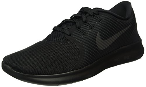 Womens Nike Free RN Commuter Running Shoe Black/Black-Black 8