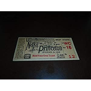 1928 PRINCETON AT NAVY COLLEGE FOOTBALL TICKET STUB EX