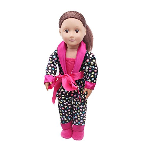 - Londony ♥‿♥ 5Pcs Lovely Pajamas Set Clothes Shoes for 18 inch American Girl Our Generation Dolls
