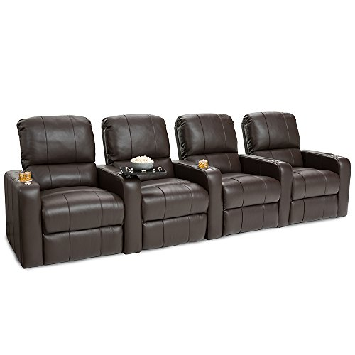 41fWHQ3H3AL - Seatcraft-Millenia-Home-Theater-Seating-Power-Recline-Leather-Row-of-4-Brown