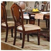 ACME 11833A  Set of 2 Classique Side Chair, Cherry Finish
