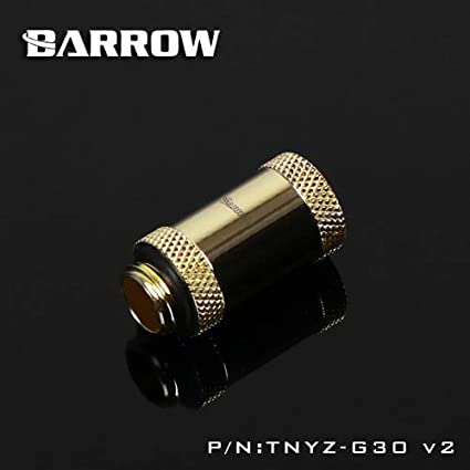Cable Length: Gold Version, Color: Plug Computer Cables Barrow Gold Version Metal Fitting Computer Connector use for Water Cooling System Extend Fitting 45-90 Angle Cable Adapter