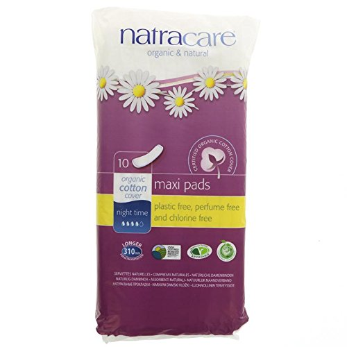 (2 PACK) - Natracare Natural Pads Night Time | 10s | 2 PACK - SUPER SAVER - SAVE MONEY Bodywise Uk Ltd