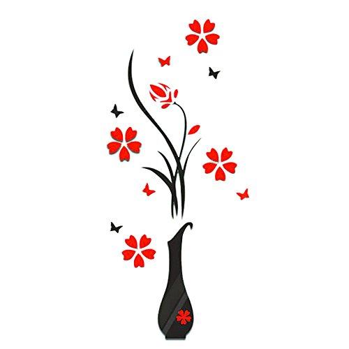 ZODOF Flores Pegatinas Decorativas para Pared Engomadas Caseras De La DecoracioN De La DecoracioN Casera De La Mariposa diseno de Flores y Mariposas para decoracion del hogar