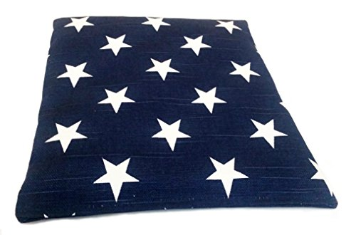 Microwavable Corn Filled Heat Bag - Warming Solution for Joint Pain, Aches, Pains, Cramps, and Arthritis (Patriotic Blue) (Corn Bag Heating Pad compare prices)