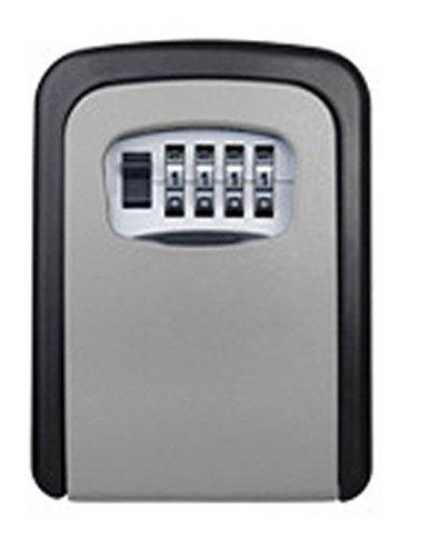 Boîte de serrure de rangement pour clé,boîte de serrure à clé murale avec combinaison à 4 chiffres, peut contenir jusqu'à 5 clés,pour clé s de clé résidentielle ou de voiture ming