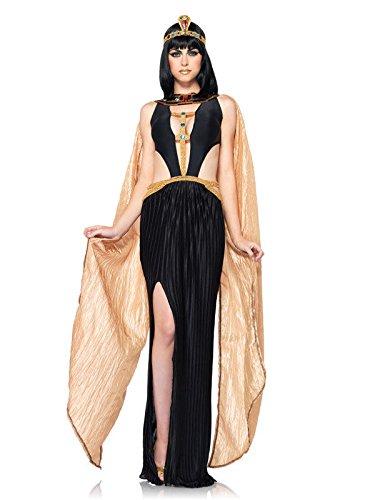 Sexy Cleopatra antico costume da donna egizia NERO ORO  Amazon.it ... 4eb4957ac76