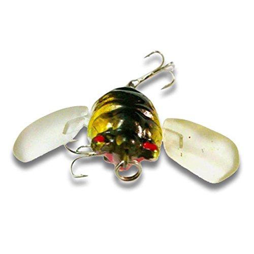 Freshwater Bait - bouti1583 Fishing Tackle Lure Snakehead Bass Killer Insect Cicada Freshwater Bait 6g