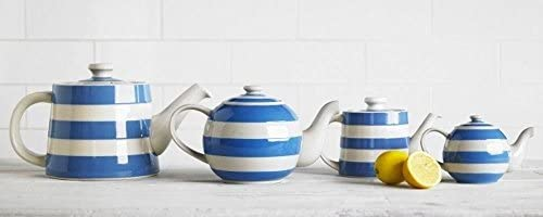 Cornishware Red and White Stripe Classic Teapot, 3 to 4 Cup