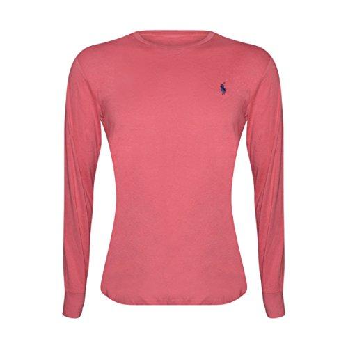 - Polo Ralph Lauren Men Long Sleeve Pony Logo T-Shirt (Small, Red)