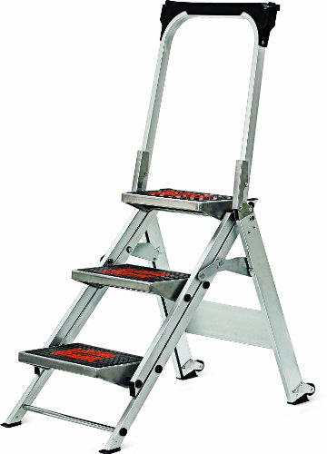 Little Giant, 3 step, Aluminum, 2-1/4 Feet, 300 lb. Capacity Stepladder (Little Step Giant Safety)