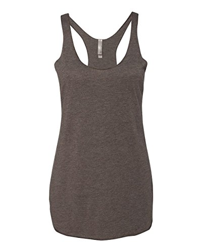 Next Level Apparel 6733 Girl Tri-Blend Racerback Tank - Macchiato44; Small