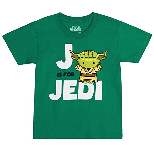 (Star Wars J is for Jedi Toddler/Juvy T-Shirt - Green)