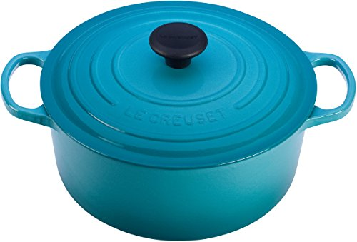 Le Creuset Enameled Cast-Iron 5-1/2-Quart Round French Oven, Caribbean