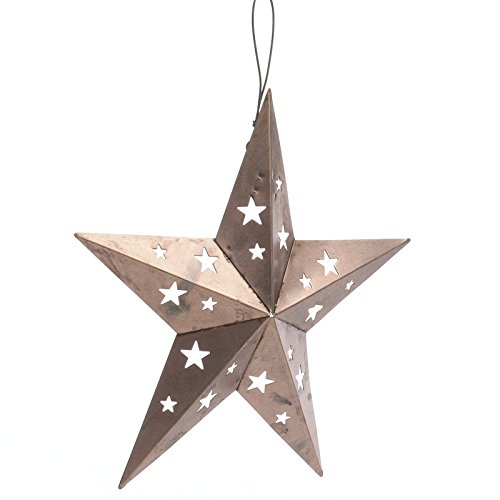 - Factory Direct Craft Package of 3 Farmhouse Rustic Copper Metal 5 Point Barn Stars (6