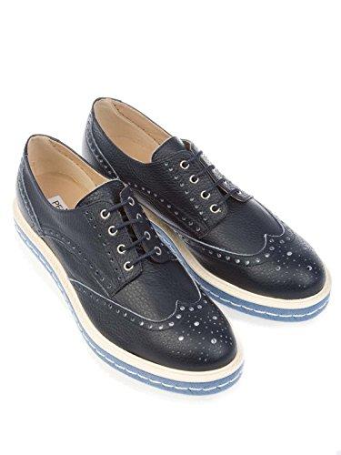 Mujer De Azul Peperosa Zapatos Cuero Cordones 3408blu 6v4PUFq