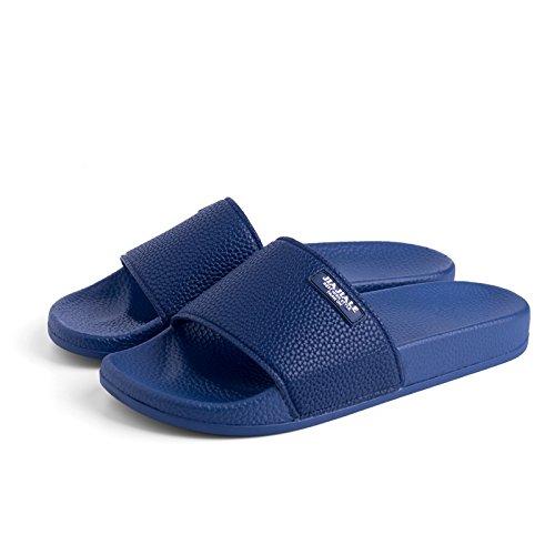 solidi e blu casual fondo antiscivolo pantofole soggiorno coppie Elegante donna calzature uomini colori con pantofole 41 piatto minimalista fankou con w6T4q1