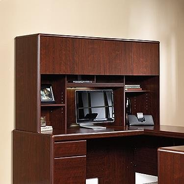 Sauder Cornerstone Hutch for Desk and Return in Classic Cherry by Sauder