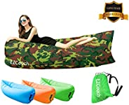 Inflatable Air Lounger Air Sofa,Water Proof& Anti-Air Leaking Design-Ideal Couch for Backyard Lakeside Bea