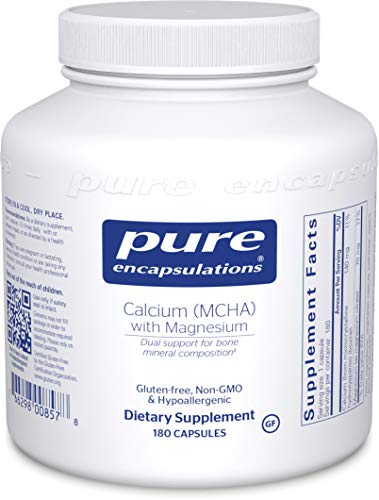 Pure Encapsulations - Calcium MCHA with Magnesium - Hypoallergenic Dietary Supplement for Bone Support* - 180 Capsules