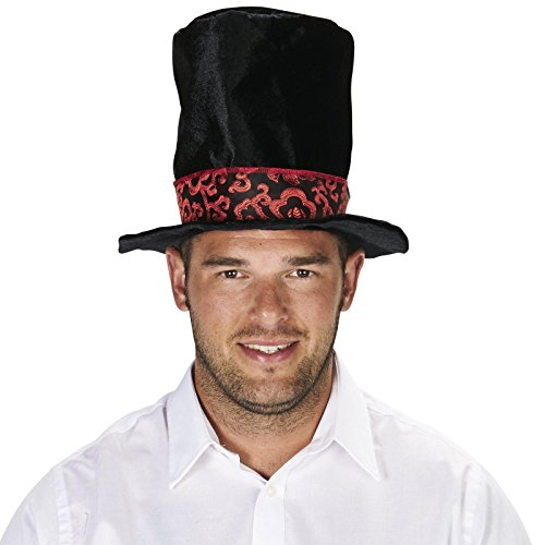 Mad Hatter Black Adult Top Hat (Men Mad Hatter Costume)