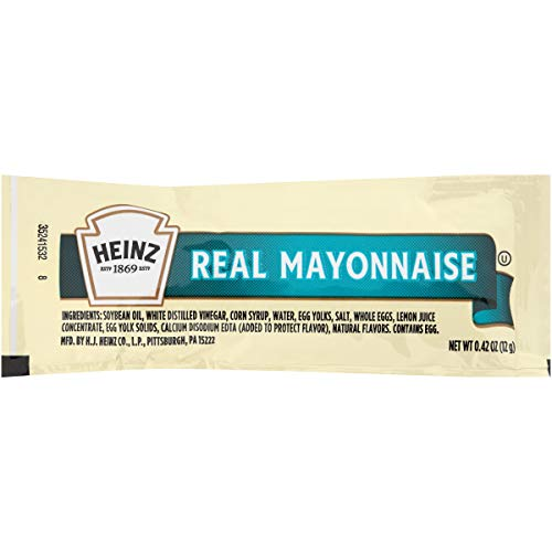 Heinz Mayonnaise, Single Serve, 12 g. packet, Pack of 200