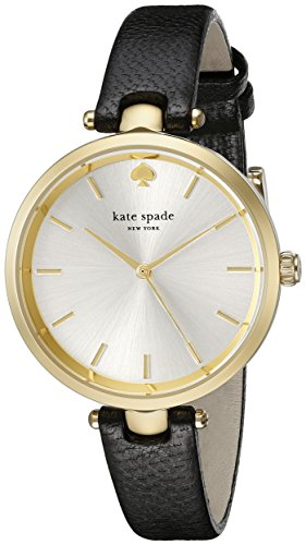 Kate Black Leather (kate spade new york Women's 1YRU0811 Holland Watch With Black Leather Band)