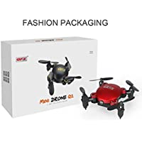 Owill Q2 Mini 4-Axis 2.4GHz 0.3MP HD Camera Wifi Headless Mode Altitude Hold Drone 3D Flip RC Quadcopter (Red)