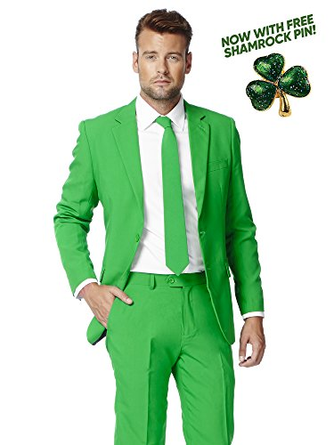 Opposuits Patrick Suit with Shamrock Print, Coming with