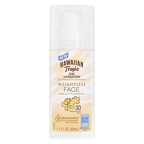 Hawaiian Tropic Silk Hydration Spf#30 Face 1.7 Ounce Weightless (50ml) (3 Pack) ()