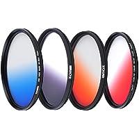 ZOMEI 72mm Ultra Slim Circular Gradual Neutral Density Filter GC - Gray Blue Orange Red Lens Filter Kit
