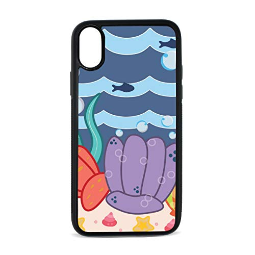 - iPhone X Case,Scallops in The Sea TPU Anti Scratch Protective Cover,Compatible Cell Phone Cases,Printed Shockproof Defender 5.8in