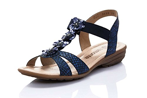 royal 14 Sandales T R3633 Remonte Bleu Femmes bar vxnwYqx8Az
